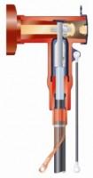 Экранированная Т-образная система на напряжение 10, 20 и 35 кВ для ячеек РУ с газовой изоляцией с бушингами типа С.
